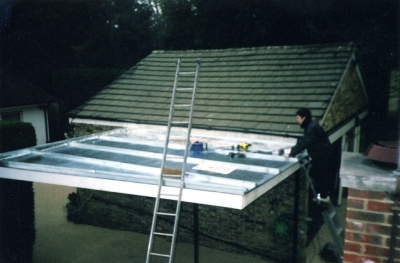 Zinc roofed extension